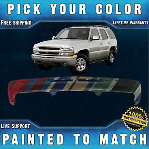 Painted To Match Steel Bumper Direct Fit For 2000 2006 Silverado Tahoe Suburban