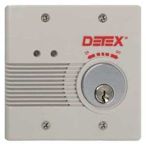 Exit Door Alarm 12 24vdc mortise plastic Detex Eax 2500sk Gray W cyl