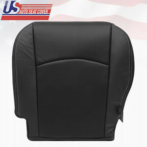 2010 2012 Dodge Ram Laramie Driver Bottom Perforated Leather Seat Cover Black