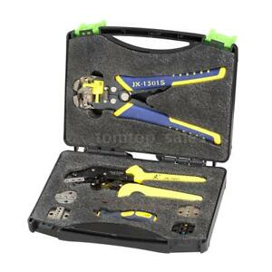 Wire Crimpers Engineering Ratcheting Terminal Crimping Pliers Kit W Case Us D7k8