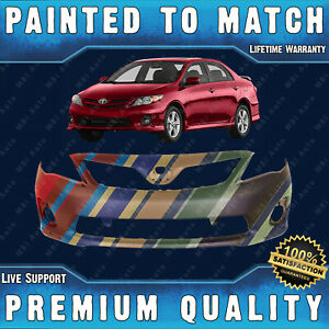 New Painted To Match Front Bumper Direct Fit For 2011 2013 Toyota Corolla S Xrs