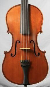 Vintage Old Antique 4 4 Fine Violin German Eduard Reichart Dresden 1896 Kv003