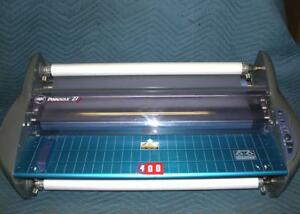 Gbc Pinnacle 27 Ezload Roll Hot Laminator 27 Wide 3mil Tested Working