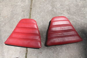 Porsche 911 930 Carrera Rear Leather Cushion Red Left Driver And Right Pass