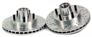 Buick Chevrolet Pontiac Baer Sport Front Rotors Slotted Drilled Zinc Plated 1pc