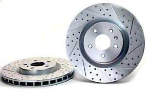 Buick Chevrolet Camaro Baer Sport Front Rotors Slotted Drilled Zinc Plated 1pc