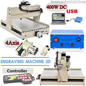 Usb 4 Axis Cnc 3040 Router Engraver Engraving Drilling Machine Mach3 controller
