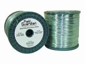 Galvanized Electric Fence Wire 14 gauge Cattle Cows Goats Farm Grazing 1 4 Miles