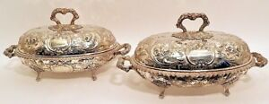 A Magnificent Pair Of Sterling Soup Tureens Bailey Co Pa C 1846 59