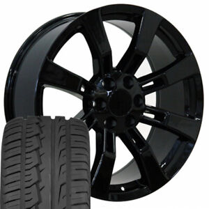 Cp 22 Rims Fit Escalade Tahoe Yukon Sierra Black Ironman Imove Tires 5409