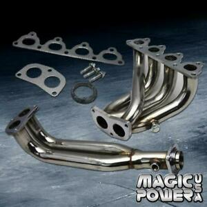 For Civic Del Sol Crx D15 D16 Sohc 4 2 1 Stainless Steel Exhaust Header