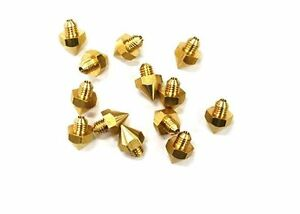 10pcs Reprap 3d Printer 0 2mm Brass Nozzle J head Hot End Makerbot Prusa Mendel