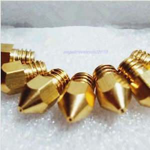 10pcs Reprap 3d Printer 0 35mm Brass Nozzle J head Hot End Makerbot Prusa Mendel