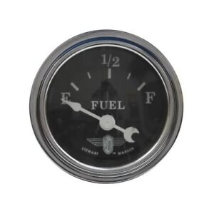 Stewart Warner Black Wings Electrical Fuel Gauge 2 1 16 Dia Black Face 82494