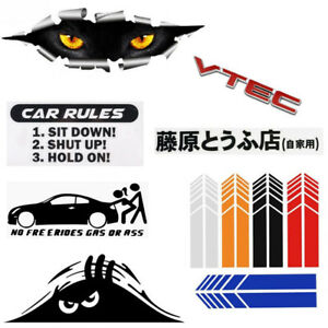 Cool Funny Auto Decal Slammed Car Truck Vinyl Jdm Racing Windshield Sticker