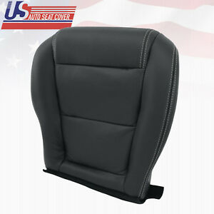 For 2001 2006 Acura Mdx Driver Lower Perforated Leather Seat Cover Shade Ebony