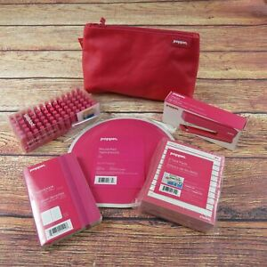 Poppin Pink 6 Piece Office Supplies Desk Accessory Set