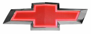 New Illuminated Light Up Led Front Grille Red Bowtie Textured Emblem Fits Camaro