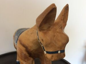Vintage Retro Antique Carved Wooden Horse With Fancy Sadle