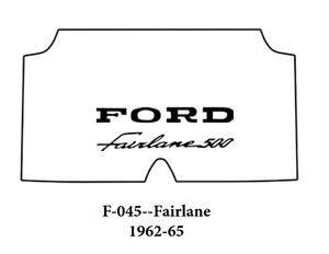 1962 1965 Ford Fairlane Trunk Rubber Floor Mat Cover With F 045 Fairlane