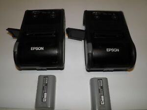 Lot Of 2 Epson Tm p60ii Model M292b Bluetooth Mobile Thermal Pos Receipt Printer
