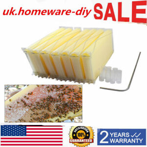 New Automatic Flow Honey Bee Hive Beehive Raw Honey Beekeeping Hive Frames 7pcs