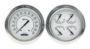 1954 1955 Chevrolet Chevy Truck Direct Fit Gauge Classic White Ct54cw52