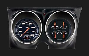 1967 1968 Camaro Classic Instruments Direct Fit Gauges Velocity Black Cam67vsb