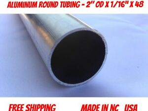 Aluminum Round Tubing 2 Od X 1 16 X 48 long About 1 5 Lbs 6063 T5 Type