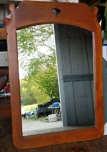 Antique Rock Maple Cushman Colonial Creations Wall Mirror 4136