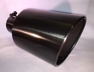 5 Inlet 7 Outlet 15 Long Black Chrome Diesel Exhaust Tip Ford Dodge Chevy