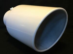 4 Inlet 7 Outlet 15 L Gloss White Diesel Exhaust Tip Chevy Duramax