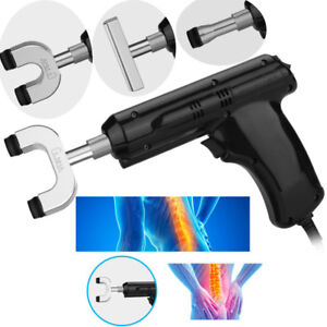 110 220v Pro Chiropractic Tool Electric Spine Adjusting Corrector 4 Heads Eb1