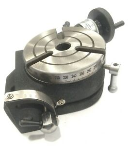 4 Inch 100 Mm Tilting Rotary Table With Mt2 Bore milling