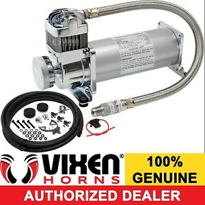 200 Psi Air Compressor 3 8 Hose Kit F train Horns bag Suspension 12v Vxc8301pro