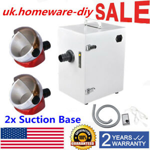 370w Dental Lab Single row Dust Collector Vacuum Cleaner 2 Suction Base 17kpa