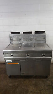 Frymaster 3 Bank Deep Fat Fryer Fpp345gsc Natural Gas No Filter Box Tested