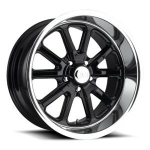18x9 5 Us Mag Rambler U121 5x4 75 Et1 Gloss Black Wheels Set Of 4