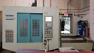 Brother Tc s2a o W Midaco Pallet Changer And Chip Conveyor Cnc Vmc Tapping