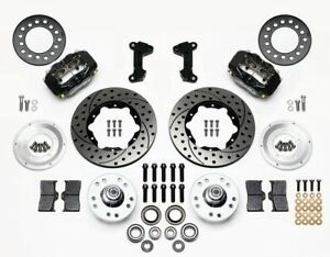 Wilwood 140 11017 D Mustang Ii 11 Black Dynalite Pro Drilled Front Brake Kit