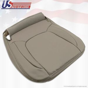 2004 2005 Dodge Ram 1500 Laramie Passenger Bottom Leather Seat Cover Taupe