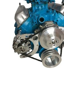 Small Block Ford 289 302 With Gm One Wire Alternator Bracket Sbf V Belt Circles