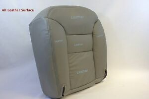 1995 1996 1997 1998 Chevy Suburban Tahoe Leather Driver Bottom Seat Cover Gray