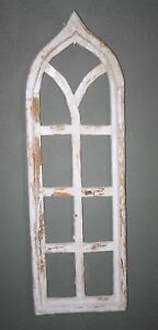 Wooden Antique Style Church Window Frame Primitive Wood Gothic 38 Shabby