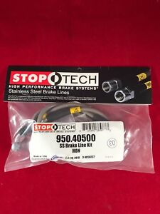 Stoptech Stainless Steel Rear Brake Line 1999 200 Honda Civic Si Disk 950 40500