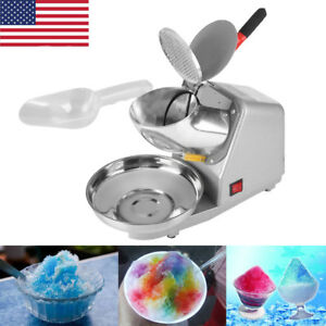 187lbs h Electric Ice Crusher Shaver Machine Snow Cone Maker Shaving Heavy Duty