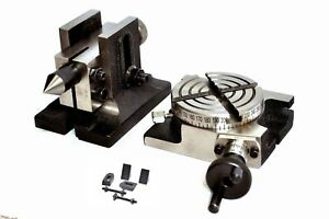 Rotary Table 3 75mm With Tailstock M6 Clamping Kit