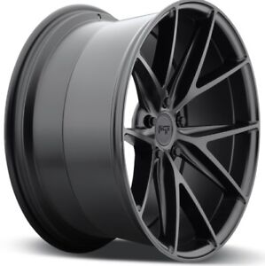 18x9 5 Niche Misano M117 5x120 40 Matte Black Wheels New Set