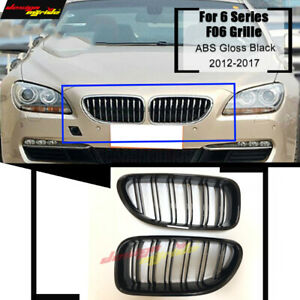Gloss Black Front Kidney Grill Grille For Bmw F06 F12 M6 Coupe 640i 650i 2012 16