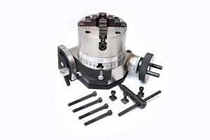 Rotary Table 4 Tilting Model With 100 Mm 4jaw Independent Chuck